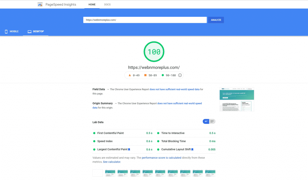 How to get a score of 100 on PageSpeed Insights